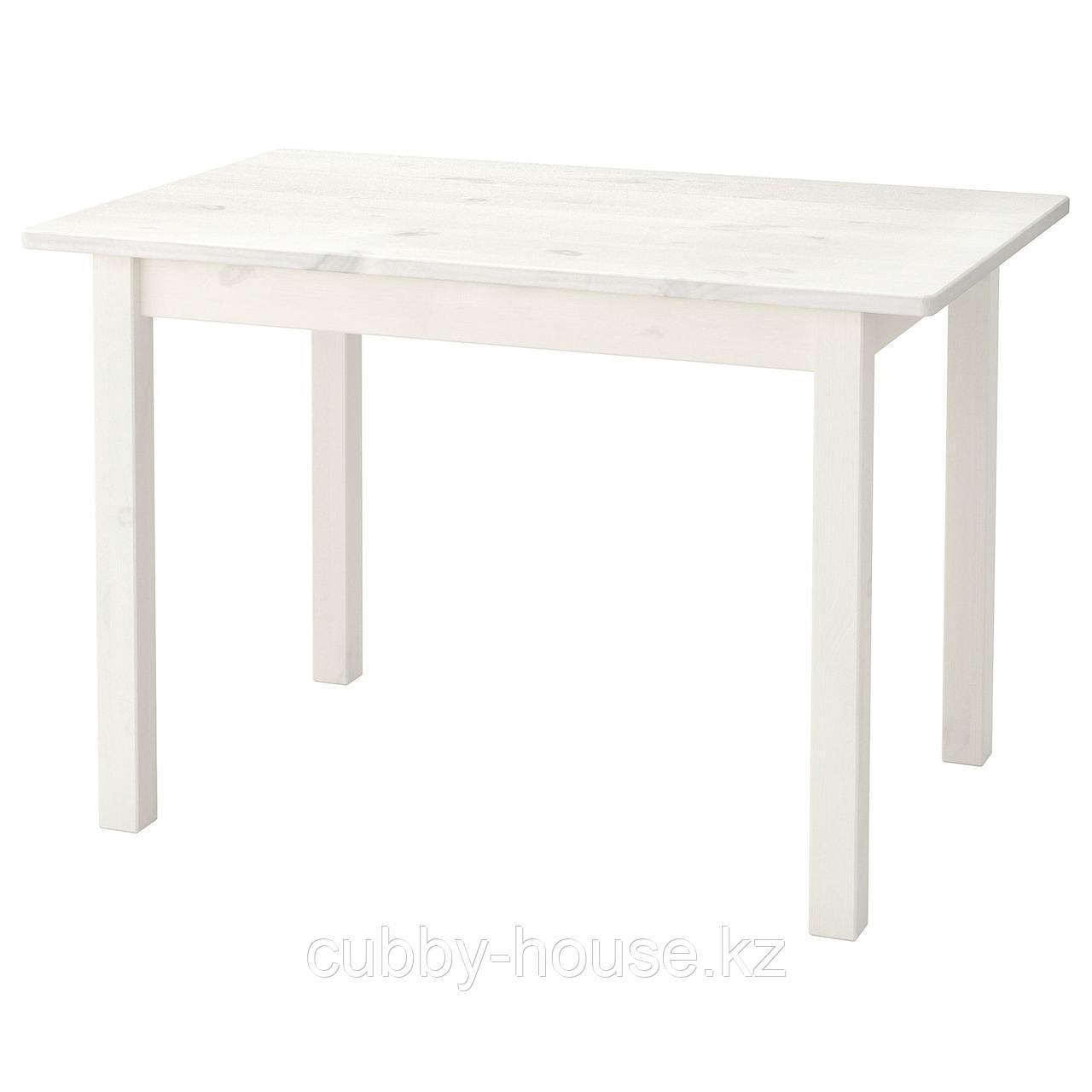 СУНДВИК Стол детский, белый, 76x50 см