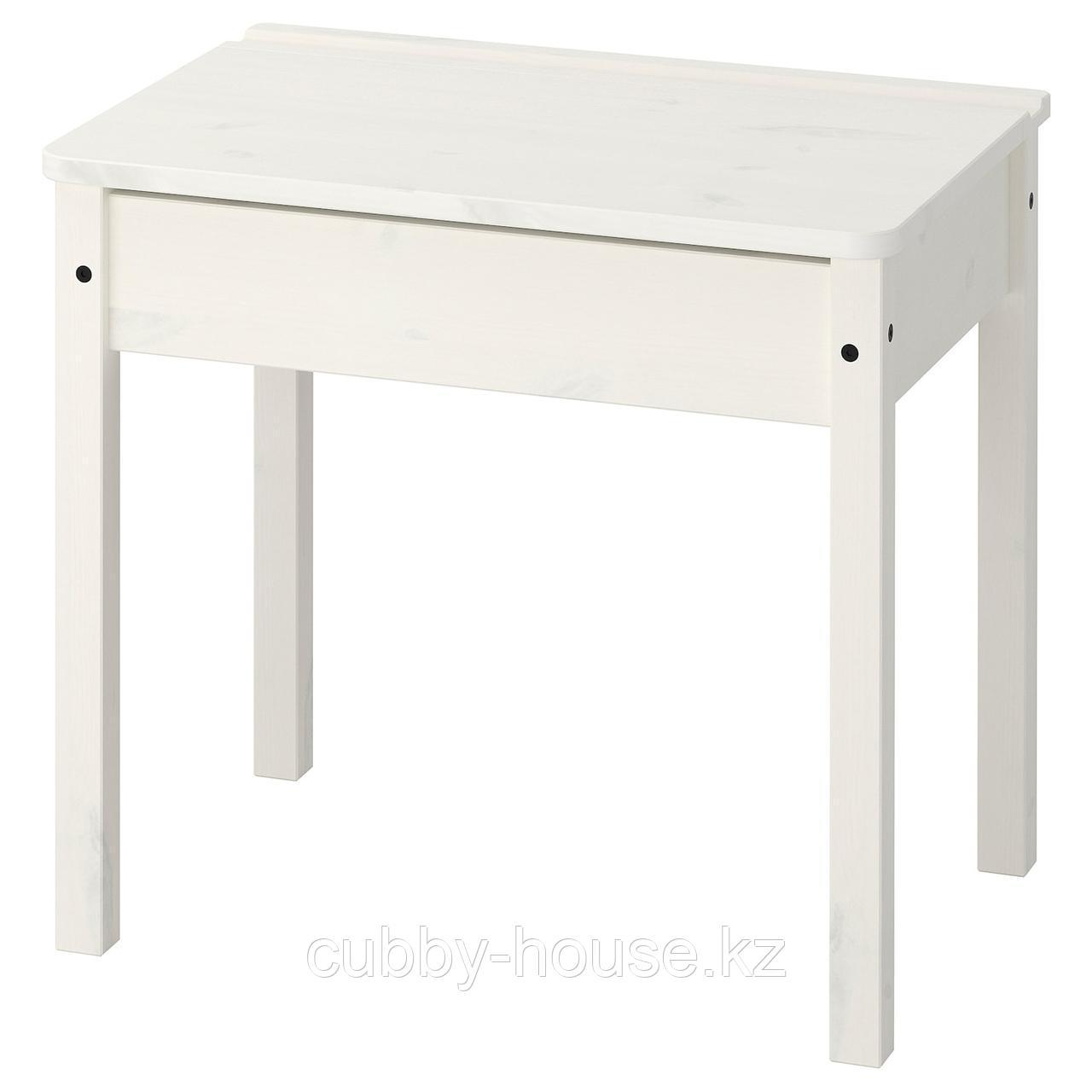 СУНДВИК Стол с отделением для хранения, белый, 60x45 см