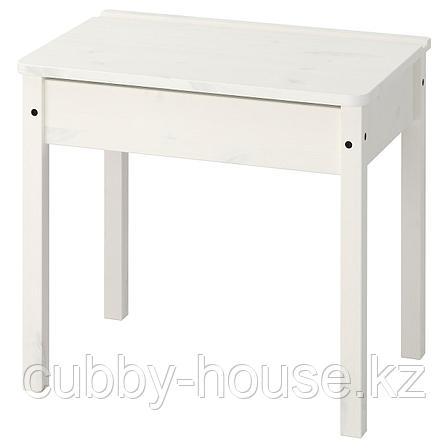 СУНДВИК Стол с отделением для хранения, белый, 60x45 см, фото 2