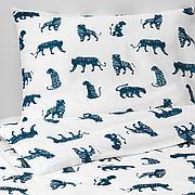 УРСКОГ Пододеяльник и 1 наволочка, тигр, синий, 150x200/50x70 см