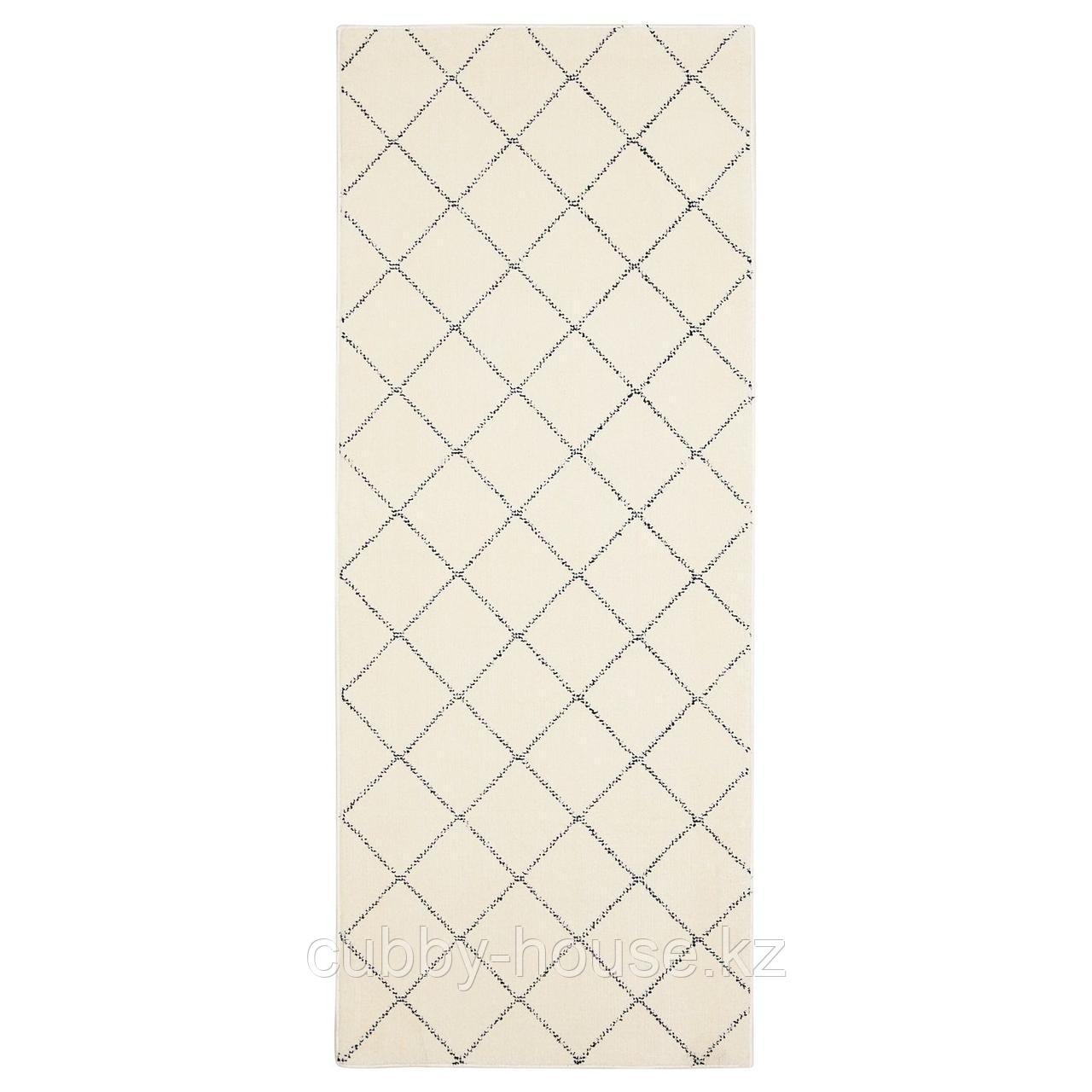 АРНАГЕР Ковер, белый, бежевый, 80x150 см