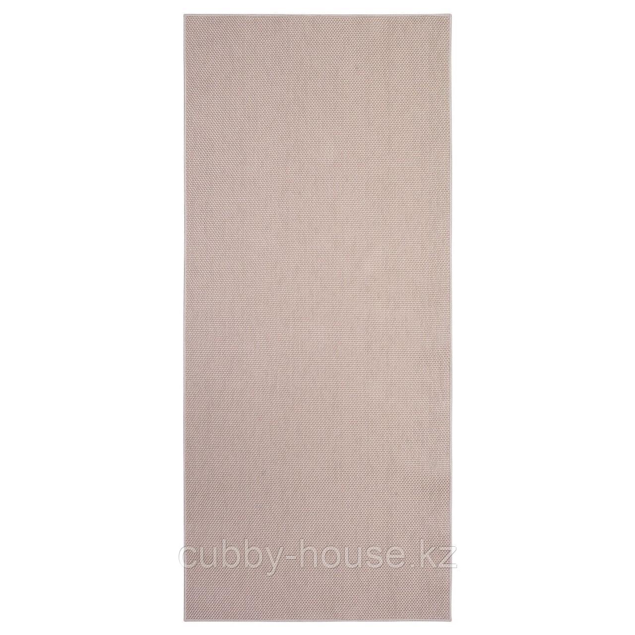 СОЛЛИНГЕ Ковер безворсовый, бежевый, 65x150 см