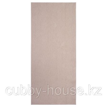 СОЛЛИНГЕ Ковер безворсовый, бежевый, 65x150 см, фото 2