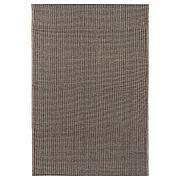 ЛИЗБЬЕРГ Ковер безворсовый, небеленый черный/естественный, 60x90 см