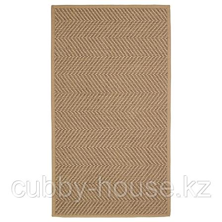 ХЕЛЛЕСТЕД Ковер безворсовый, неокрашенный, коричневый, 80x150 см, фото 2