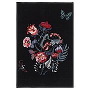 ЛОВНС Ковер, короткий ворс, черный, разноцветный, 60x90 см