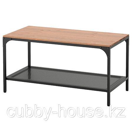 ФЬЕЛЛЬБО Журнальный стол, черный, 90x46 см, фото 2