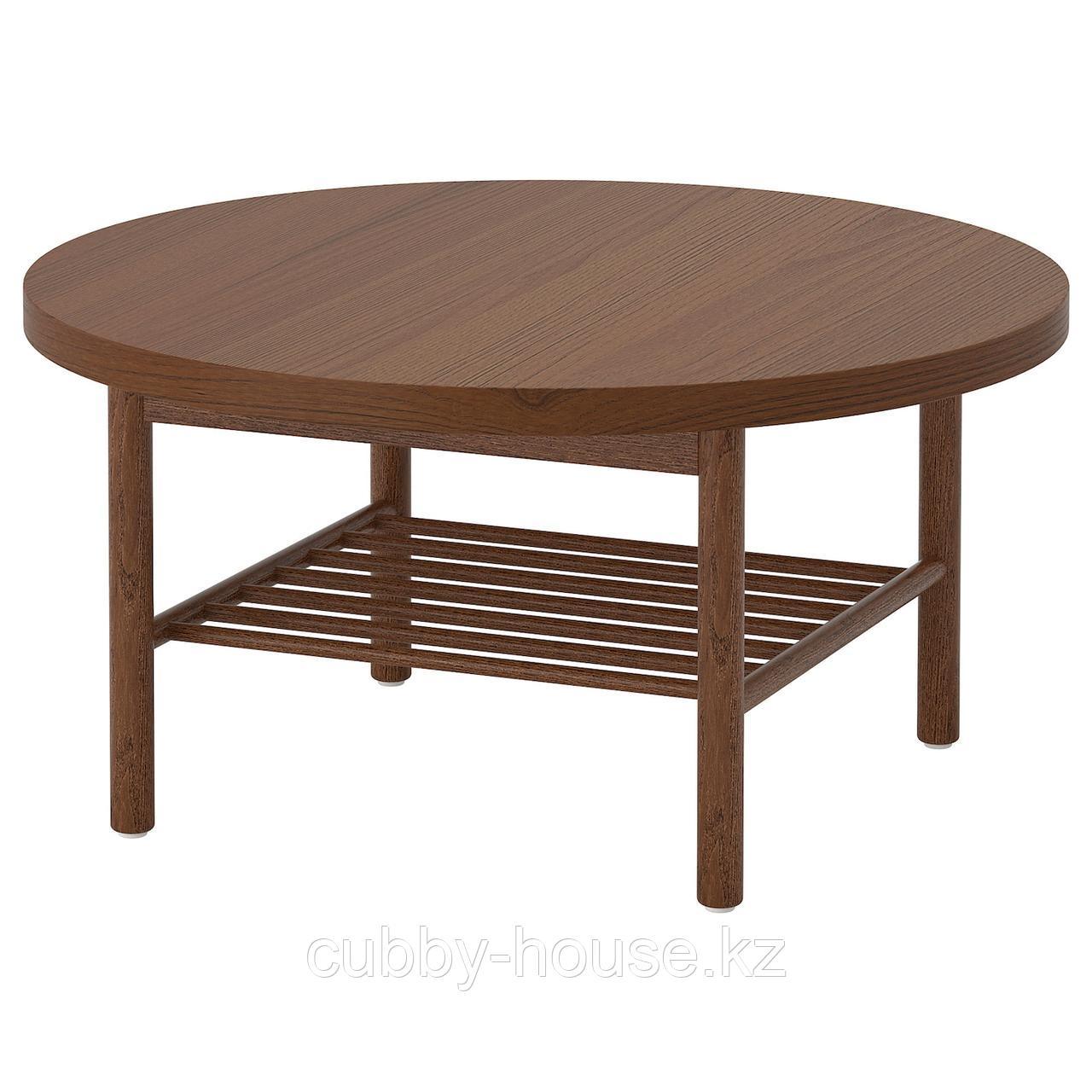 ЛИСТЕРБИ Журнальный стол, коричневый, 90 см