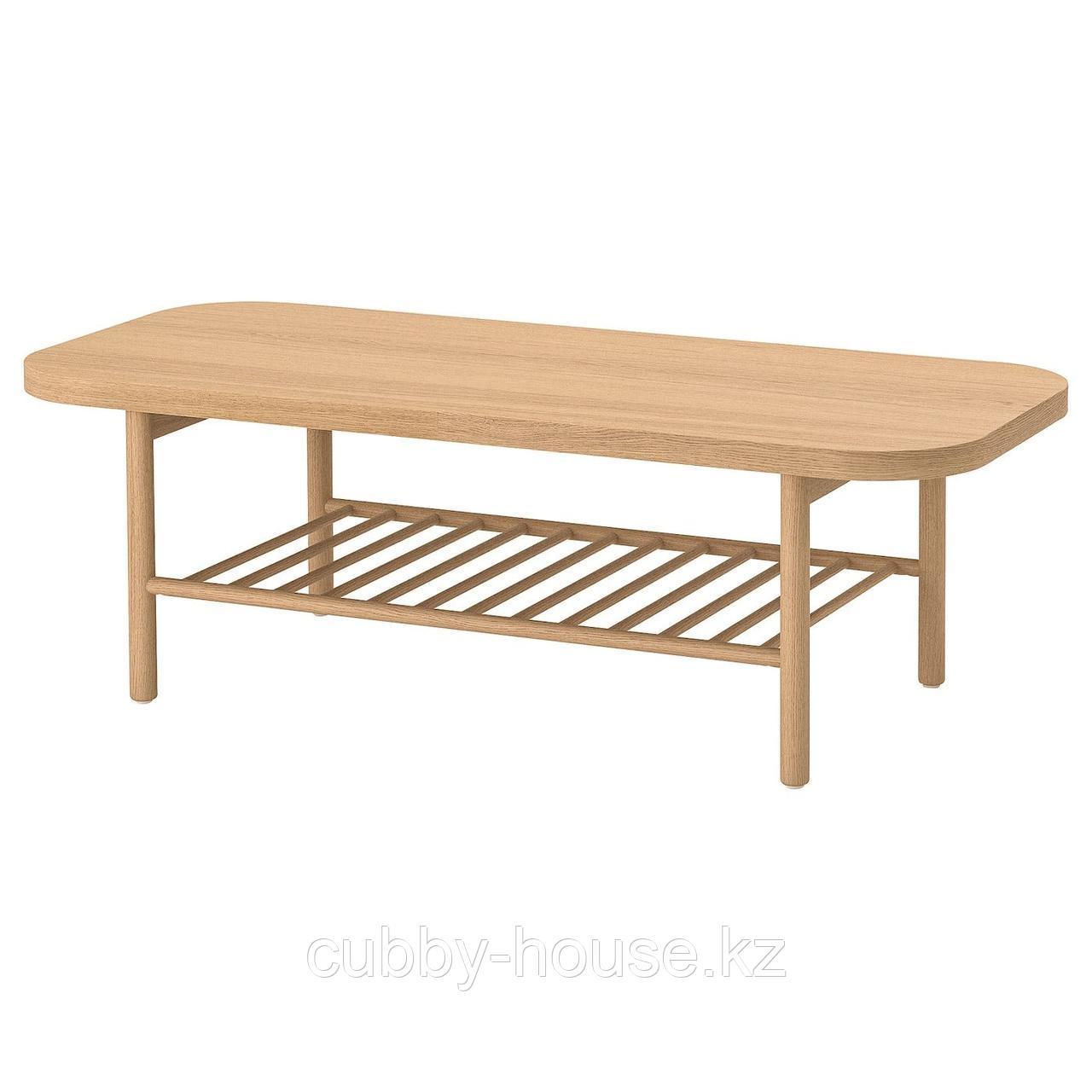 ЛИСТЕРБИ Журнальный стол, белая морилка дуб, 140x60 см