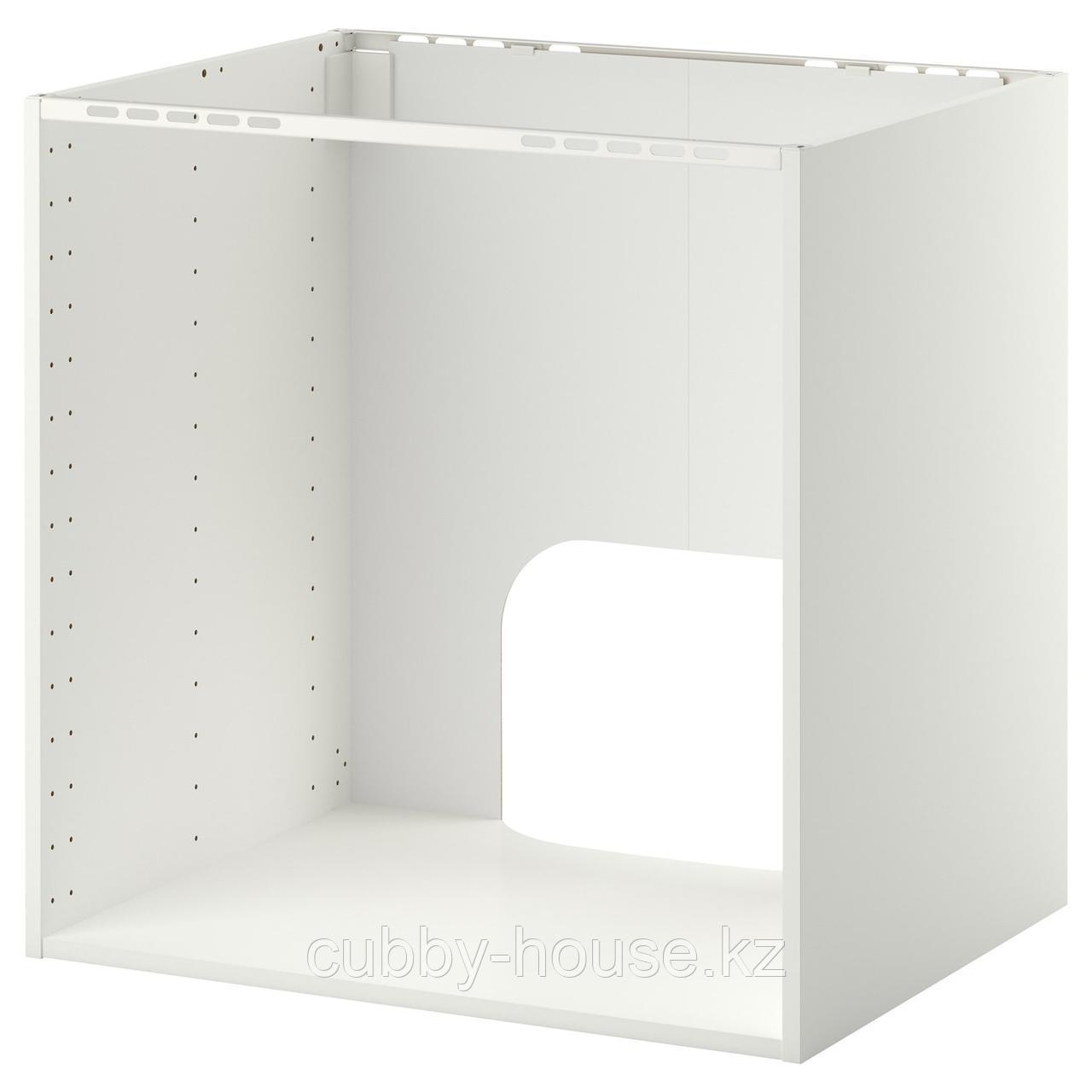 МЕТОД Напольный шкаф д/встр духовки/мойки, белый, 80x60x80 см - фото 2