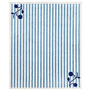 ГУЛСПАРВ Ковер, в полоску синий, белый, 133x160 см