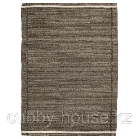 ХОЭТ Ковер безворсовый, коричневый ручная работа коричневый, 170x240 см, фото 2