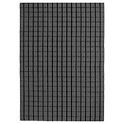 ФОУЛУМ Ковер безворсовый, серый ручная работа серый, черный, 170x240 см