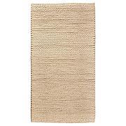 ИБСКЕР Ковер, ручная работа, белый с оттенком, 80x150 см