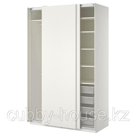 ПАКС Гардероб, белый, Хасвик белый, 150x66x236 см, фото 2