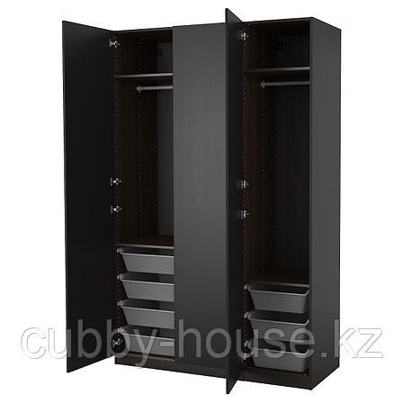 ПАКС Гардероб, черно-коричневый, Форсанд под мореный ясень, черно-коричневый, 150x60x236 см, фото 2