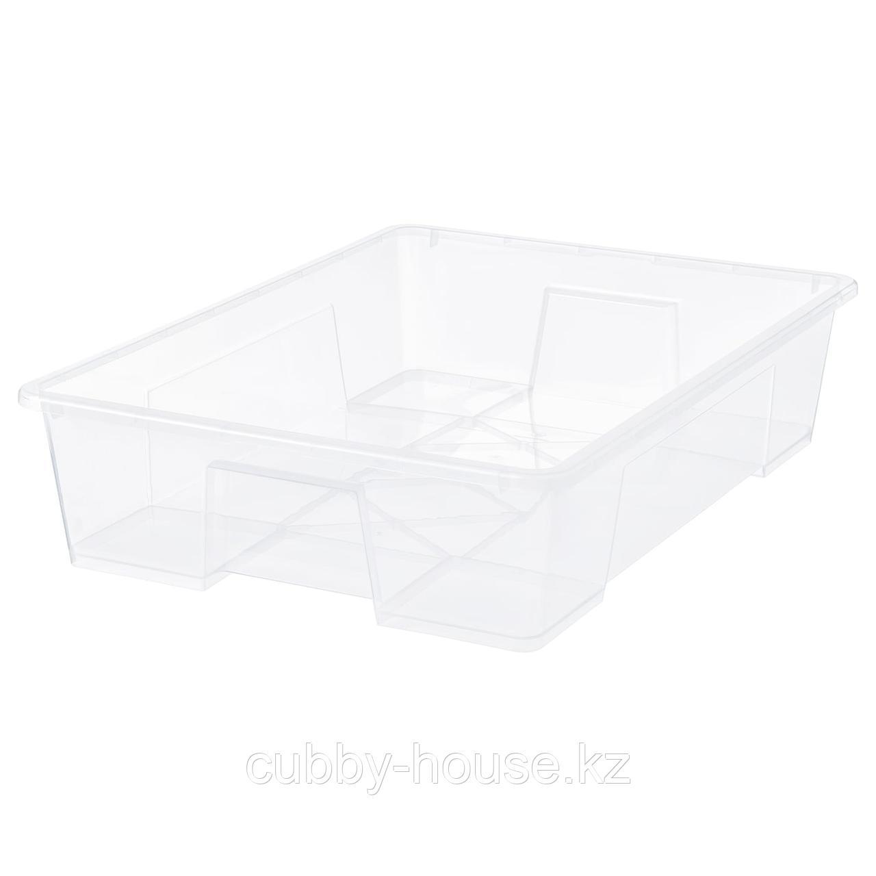 САМЛА Контейнер, прозрачный, 78x56x18 см/55 л
