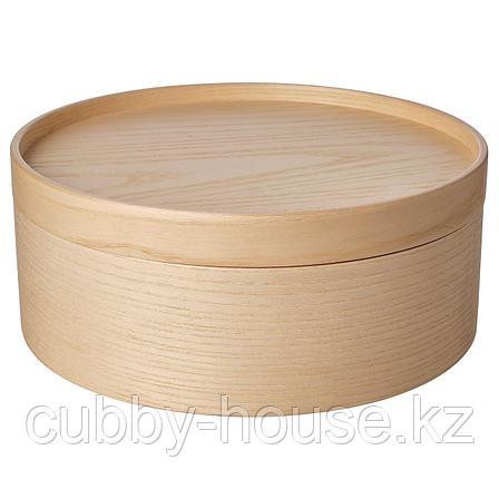 МАЛЛГРОДА Емкость с крышкой, ясеневый шпон, 25x10 см, фото 2