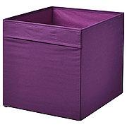 ДРЁНА Коробка, фиолетовый, 33x38x33 см