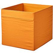 ДРЁНА Коробка, оранжевый, 33x38x33 см