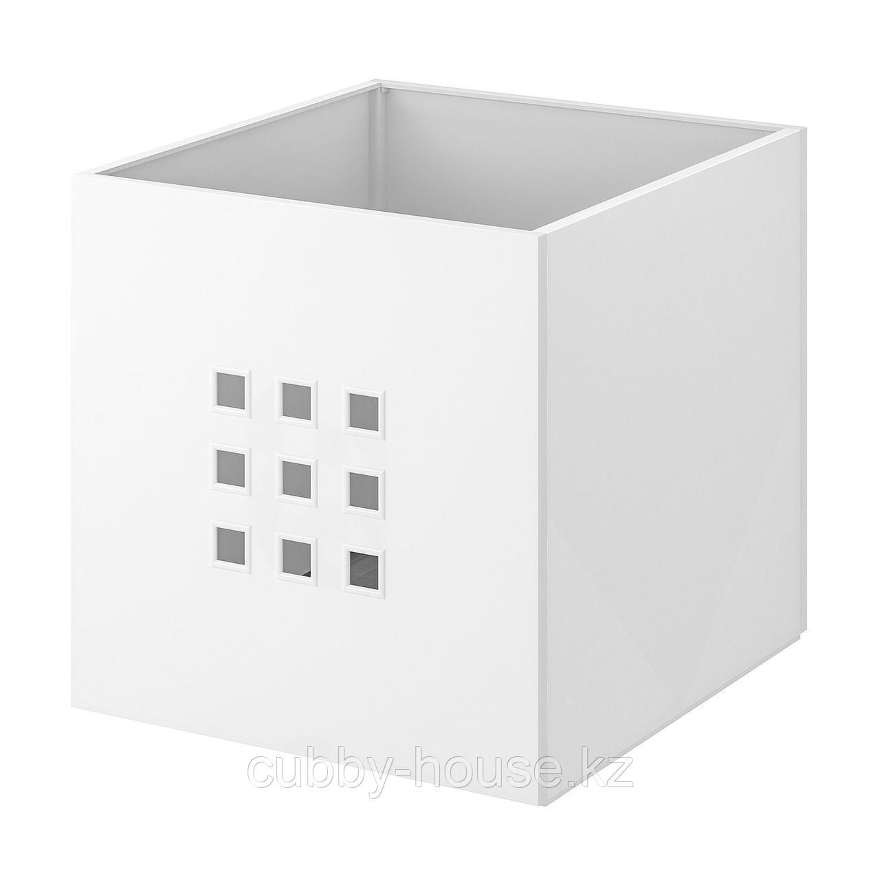 ЛЕКМАН Контейнер, белый, 33x37x33 см