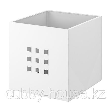 ЛЕКМАН Контейнер, белый, 33x37x33 см, фото 2