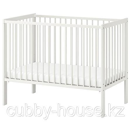 ГУЛЛИВЕР Кроватка детская, белый, 60x120 см, фото 2