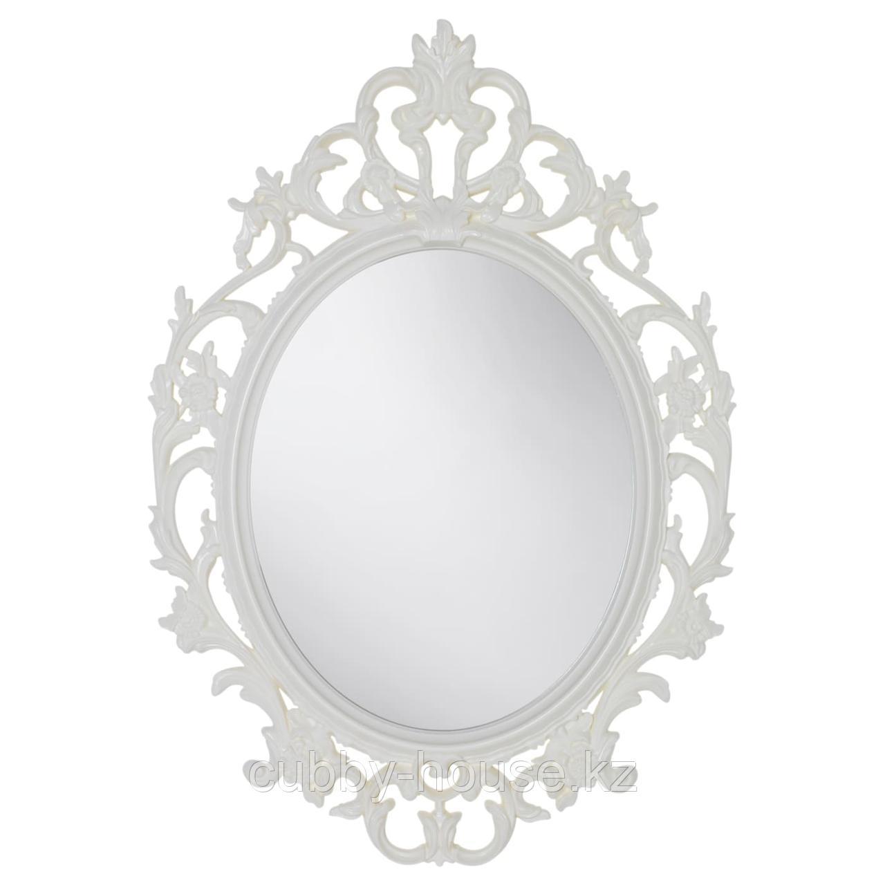 ВИКЕРСУНД Зеркало, овал, белый, 59x85 см