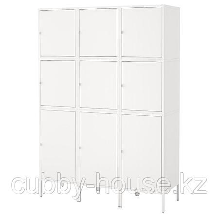ХЭЛЛАН Комбинация для хранения с дверцами, белый, 135x47x192 см, фото 2