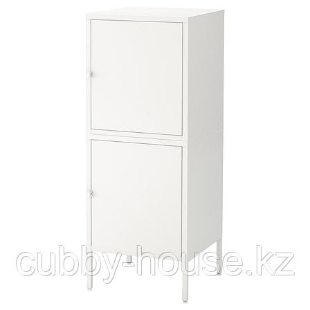 ХЭЛЛАН Комбинация для хранения с дверцами, белый, 45x47x117 см, фото 2