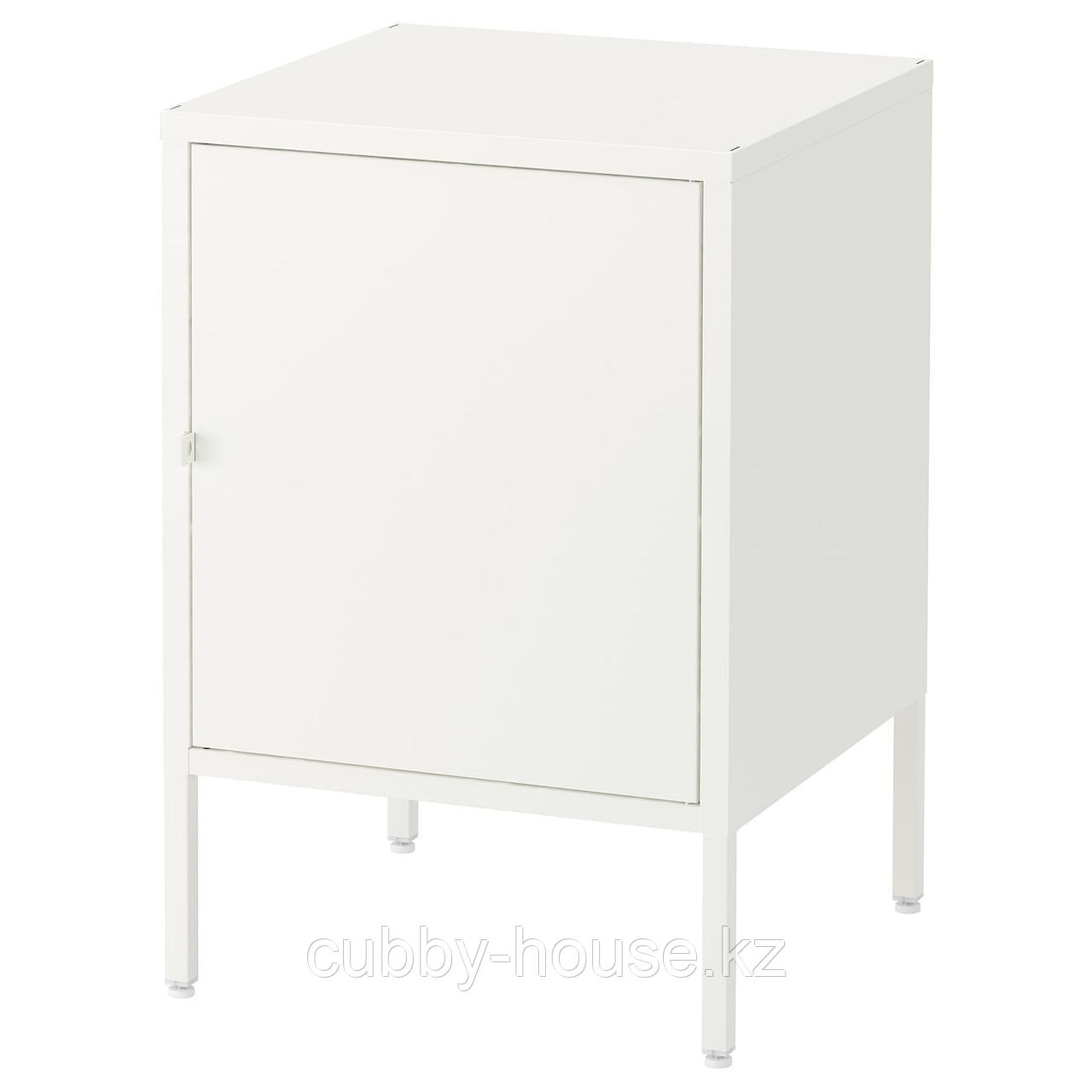 ХЭЛЛАН Комбинация для хранения с дверцами, белый, 45x47x67 см