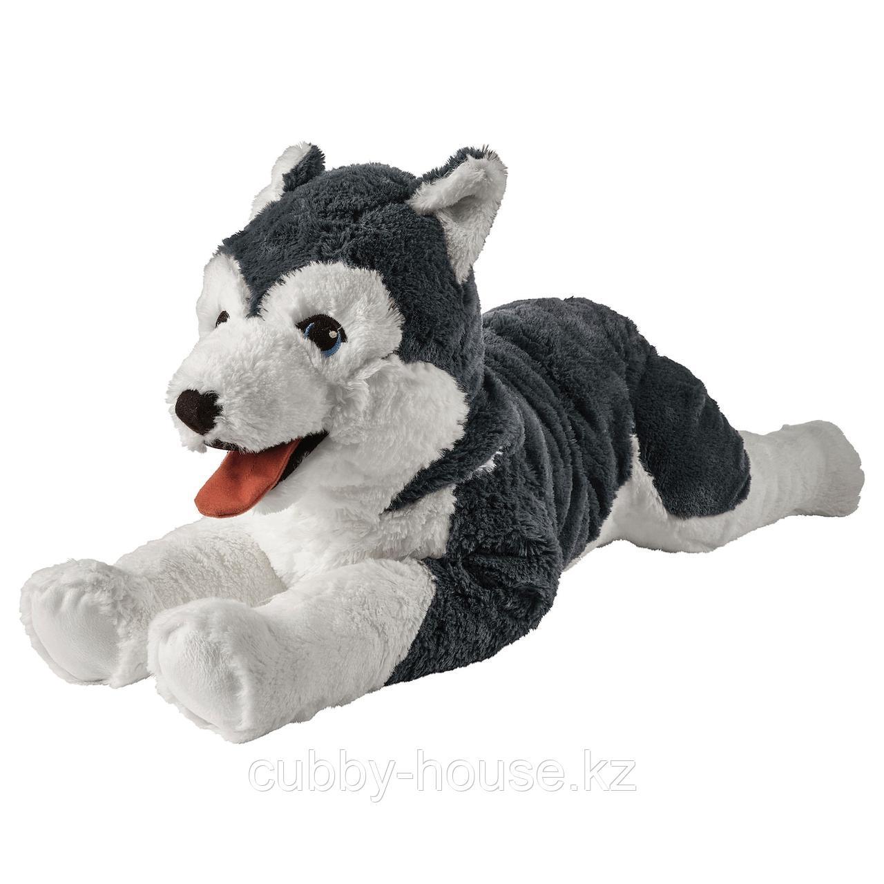 ЛИВЛИГ Мягкая игрушка, собака хаски, сибирский хаски, 57 см