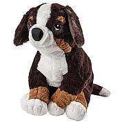 ХОППИГ Мягкая игрушка, собака, бернская овчарка белый, 36 см