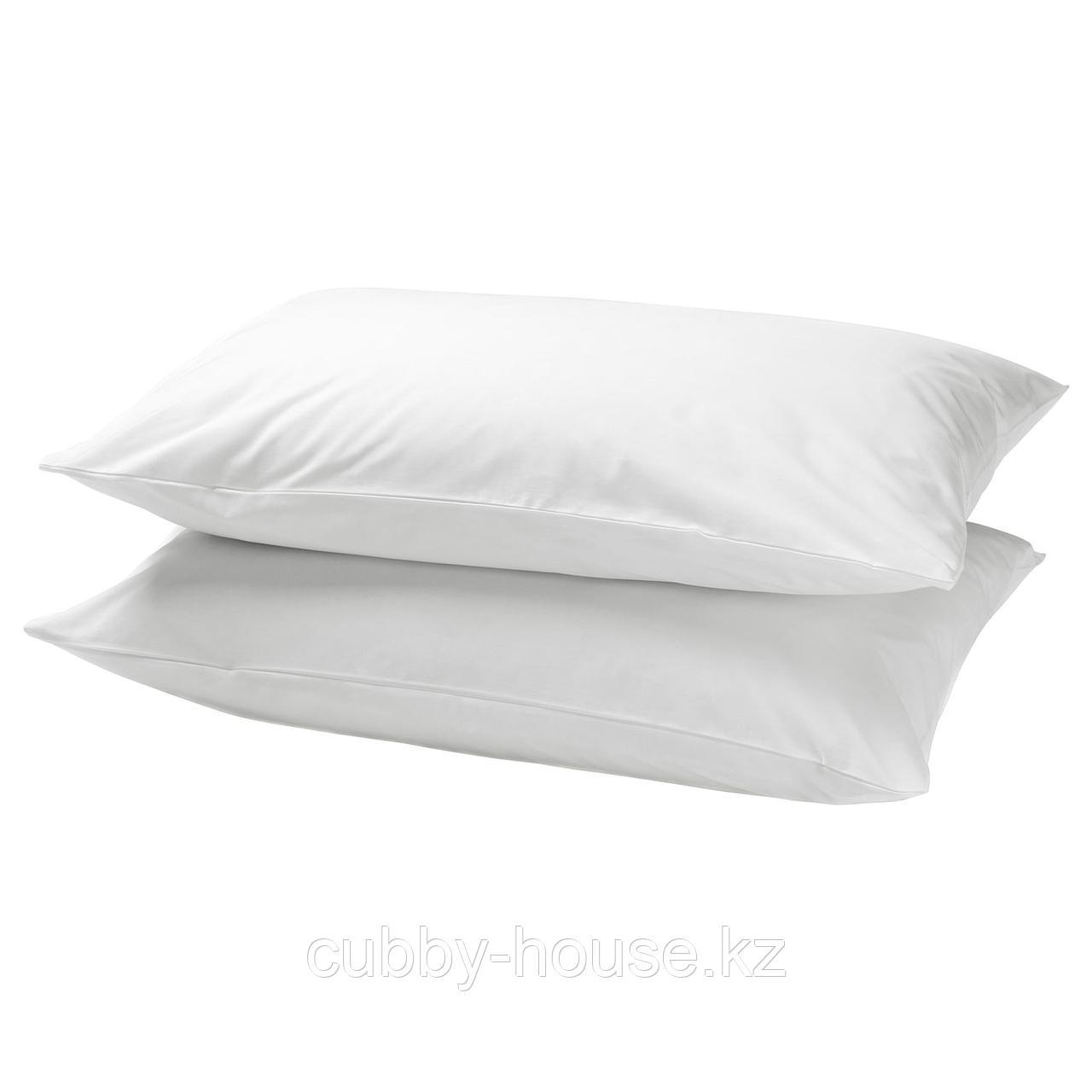 ДВАЛА Наволочка, белый, 50x70 см