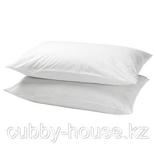 ДВАЛА Наволочка, белый, 50x70 см, фото 2