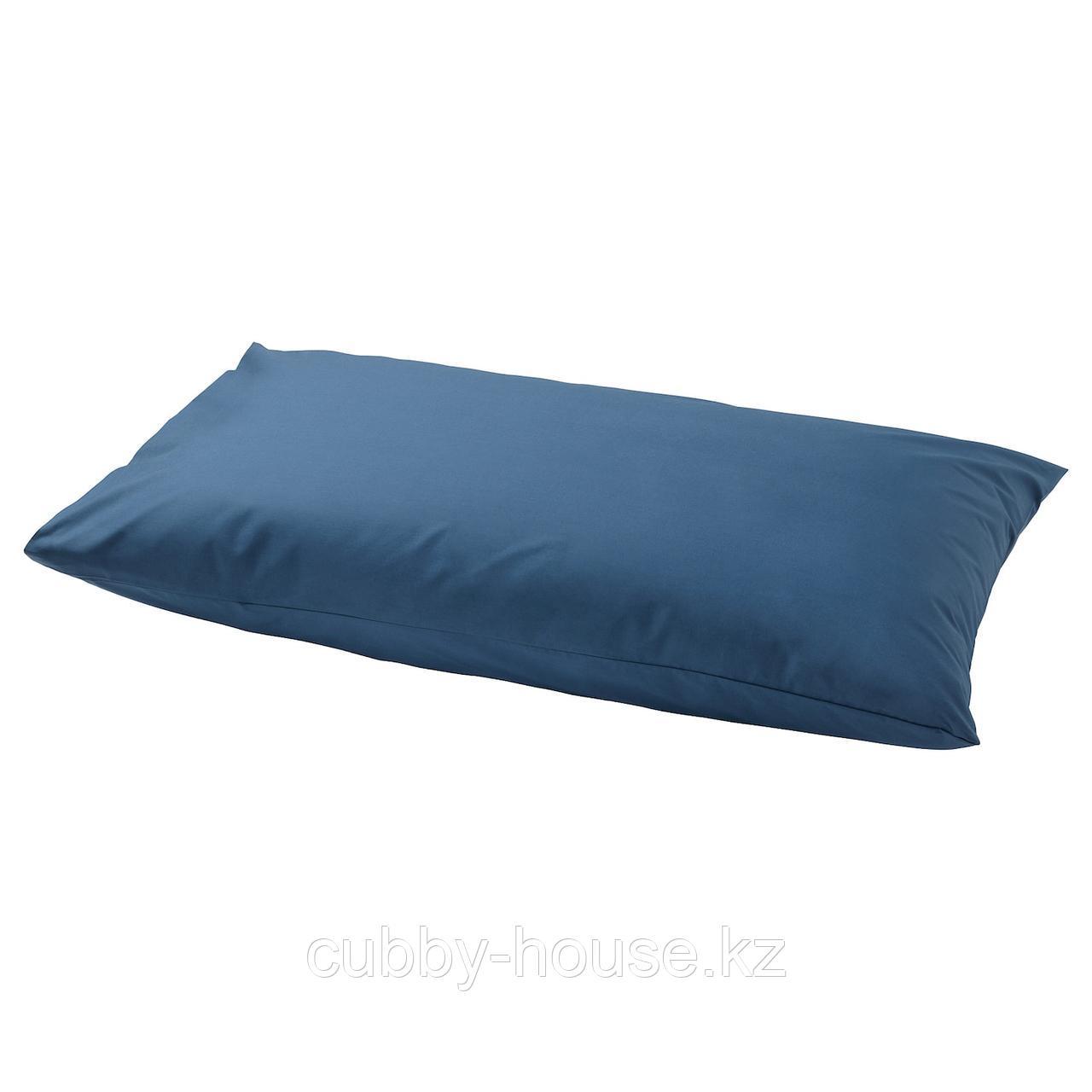 УЛЛЬВИДЕ Наволочка, темно-синий, 50x70 см
