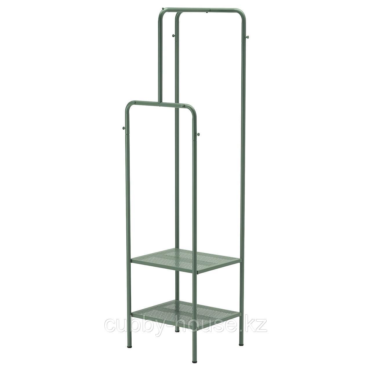 НИККЕБИ Напольная вешалка, серо-зеленый, 45x170 см