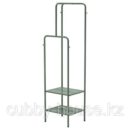 НИККЕБИ Напольная вешалка, серо-зеленый, 45x170 см, фото 2