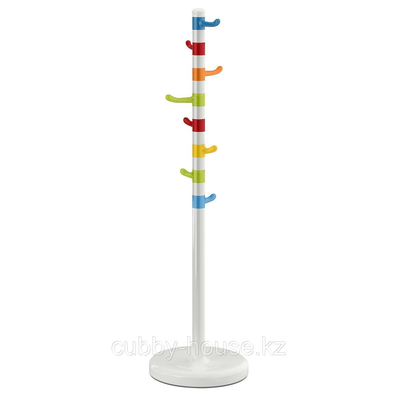 КРОКИГ Вешалка д/одежды, белый, разноцветный, 128 см
