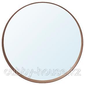 СТОКГОЛЬМ Зеркало, шпон грецкого ореха, 60 см, фото 2