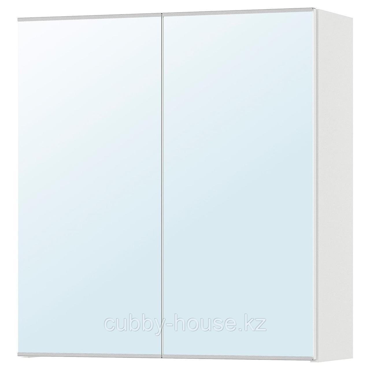 ЛИЛЛОНГЕН Зеркальный шкаф с 2 дверцами, белый, 60x21x64 см