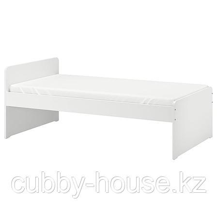 СЛЭКТ Каркас кровати с реечным дном, белый, 90x200 см, фото 2