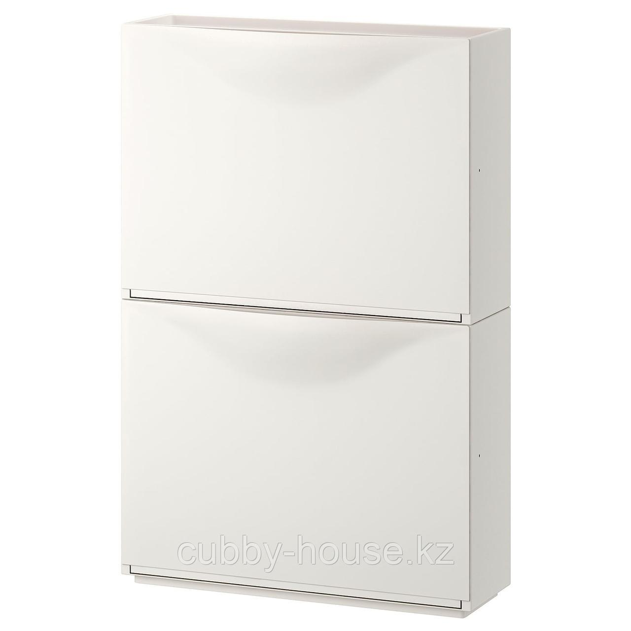 ТРОНЭС Галошница/шкаф, белый, 52x39 см