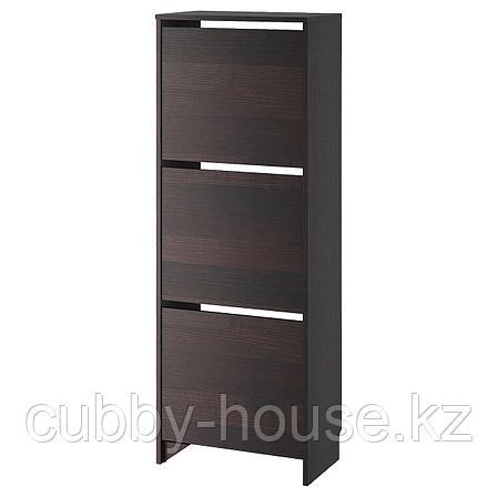 БИССА Галошница,3 отделения, черный, коричневый, 49x135 см, фото 2