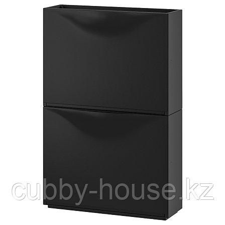 ТРОНЭС Галошница/шкаф, черный, 52x39 см, фото 2