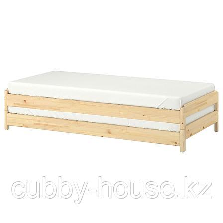 УТОКЕР Штабелируемые кровати, сосна, 80x200 см, фото 2