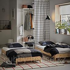 УТОКЕР Штабелируемые кровати с 2 матрасами, сосна, Хусвика жесткий, 80x200 см, фото 2