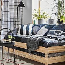 УТОКЕР Штабелируемые кровати с 2 матрасами, сосна, Хусвика жесткий, 80x200 см, фото 3