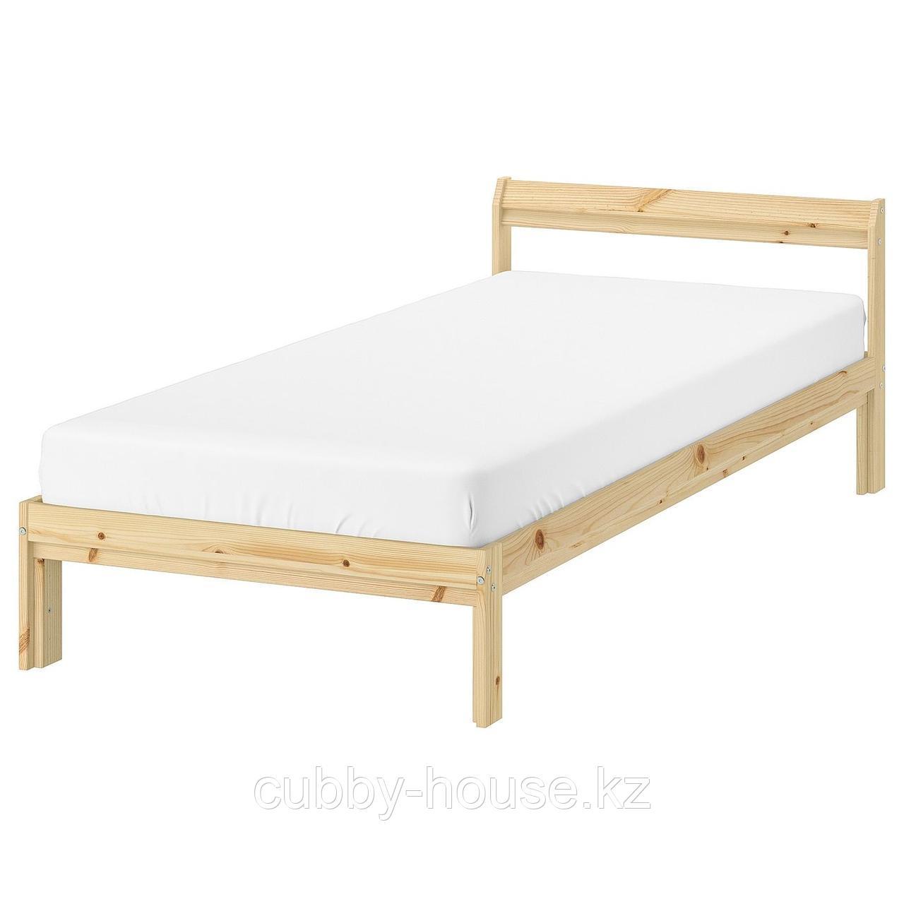 НЕЙДЕН Каркас кровати, сосна, Лурой, 90x200 см