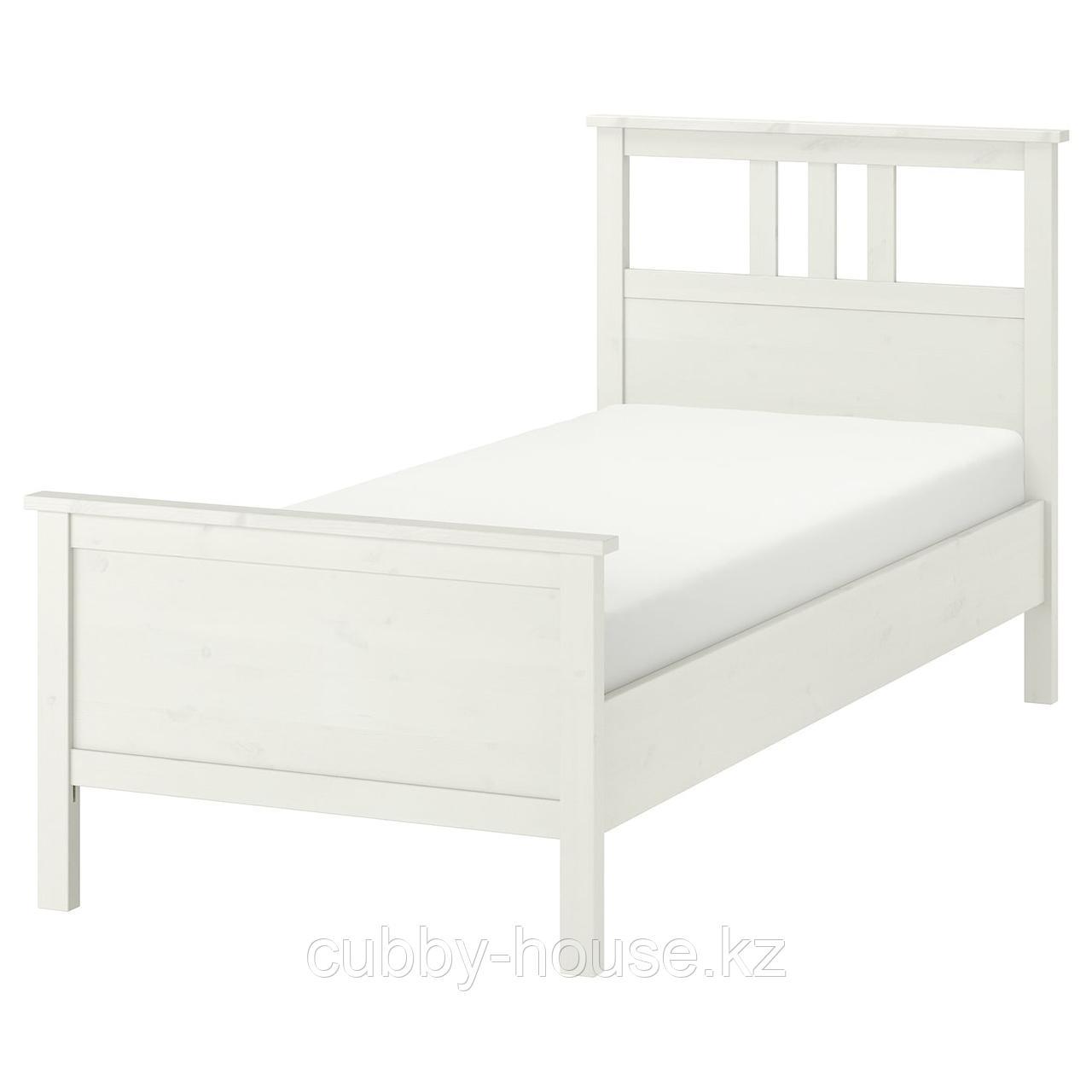 ХЕМНЭС Каркас кровати, белая морилка, Лонсет, 90x200 см
